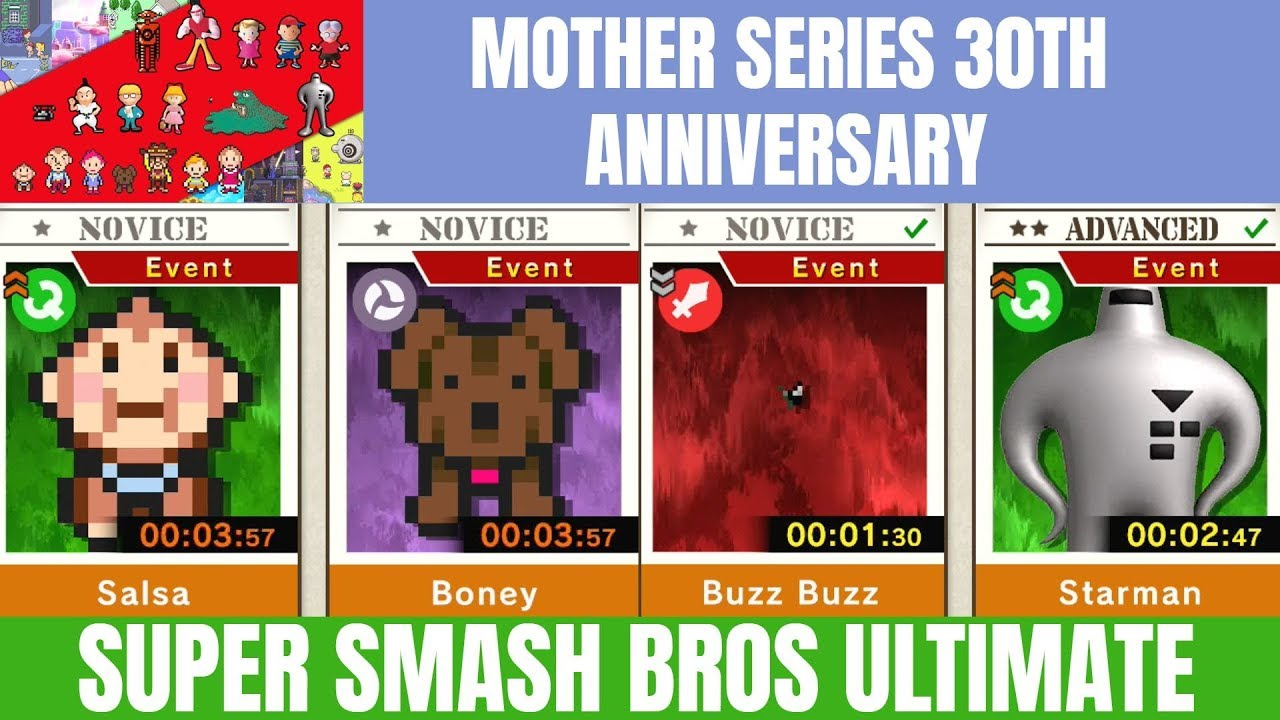 Super Smash Bros Ultimate Part 1 Spirit Board Event: Mother Series 30th  Anniversary!