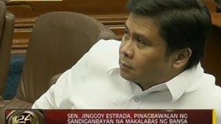 24 Oras: Sen. Jinggoy Estrada, pinagbawalan ng sandiganbayan na makalabas ng bansa
