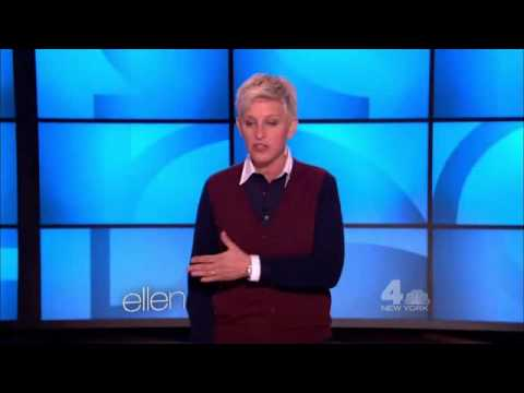 ellen host introduction greetings small talk