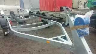 МЗСА 81771G.021-05 - для катеров и лодок длиной 5м - 5,6м. На ложементах. Г/п 1000кг. ЦЛП АРИВА.