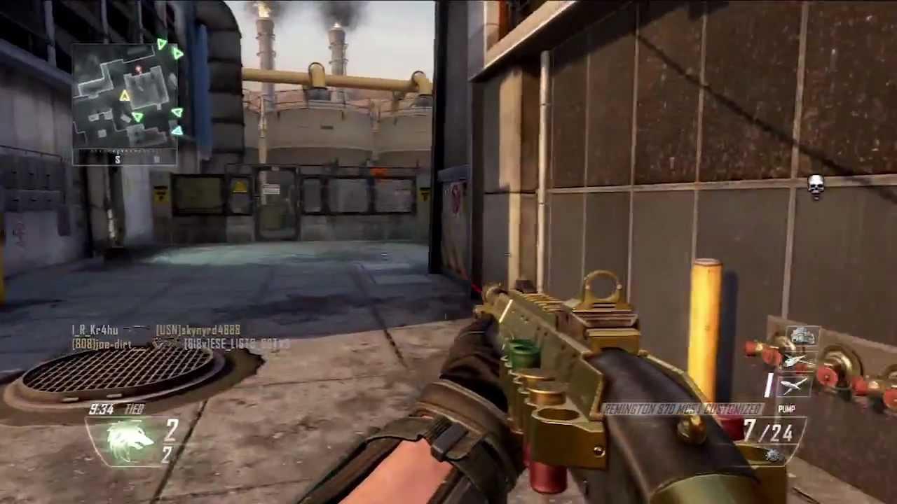 Black Ops 2 Gold Shotgun