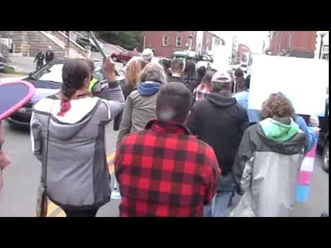 Trans Pride Protest March - St. John's, Newfoundland - July 25, 2015