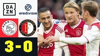Torwart-Blackout und Platzverweis im Klassieker: Ajax - Feyenoord 3:0 | Eredivisie | DAZN Highlights