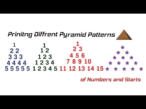 printing-different-pyramid-patterns-of-numbers-and-stars-in-c-(hindi)