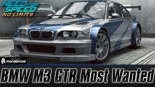 Need For Speed No Limits: BMW M3 GTR (Most Wanted) | Customization + MAXXED OUT