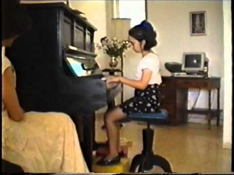 1995 Aline and Yael Piano Concert