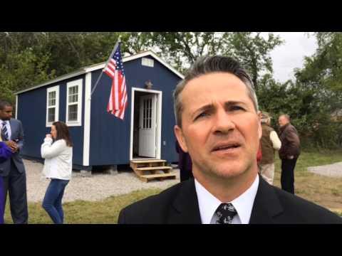 Tiny houses to shelter homeless veterans