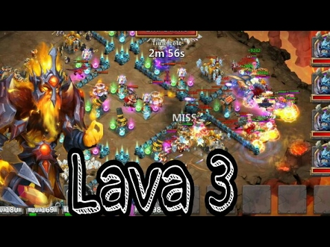 Castle Clash How To Win Lava 3~ Crest,Formation,Strategy~