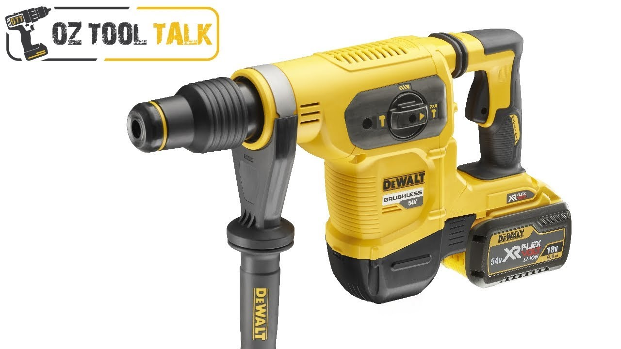 dewalt 54v sds max rotary hammer drill dch481 brushless. Black Bedroom Furniture Sets. Home Design Ideas