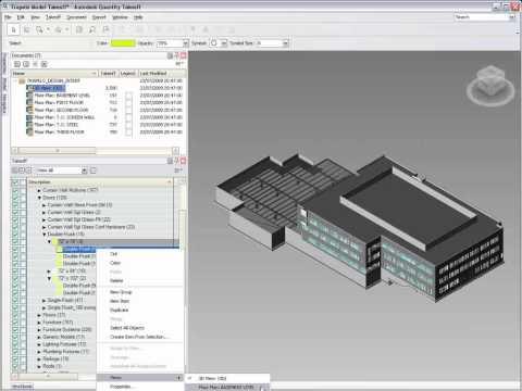 Autodesk Quantity Takeoff  - 3D model quantification