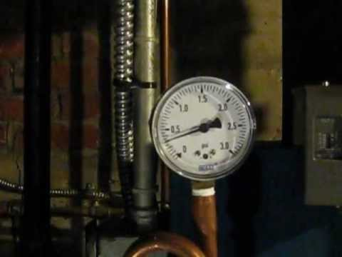 Low pressure gauge 0-3 psi on steam boiler after 45 minute burn