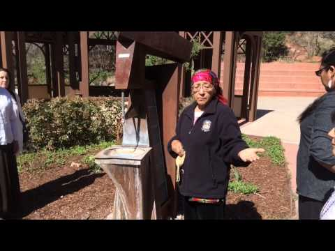 Elder with Northern Ute Tribe blesses the Seven Minute Spring in Manitou