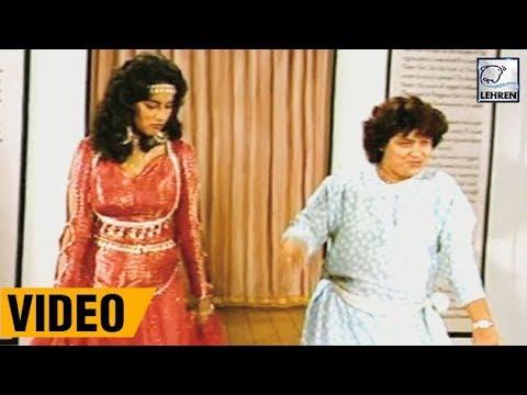 Madhuri Dixit's Dance Rehearsal With Saroj Khan From Movie Sahibaan