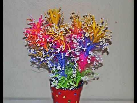 DIY Beautiful Paper Flower Vase - Very Easy - Home Decor - Tutorial