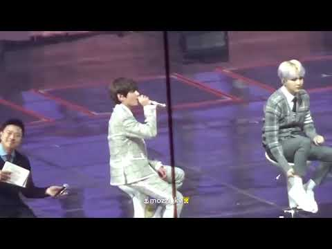 BTS(방탄소년단) Taehyung(뷔) singing '4 o'clock' acapella version live at BTS 4th Muster