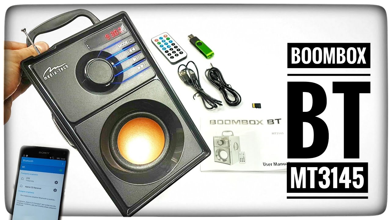 Głośnik Media-Tech Boombox BT MT3145 Recenzja test