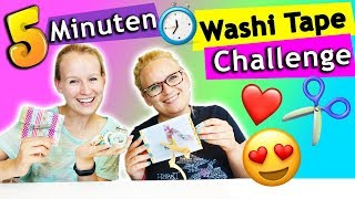 Washi Tape DIY IDEEN CHALLENGE Eva vs. Kathi | 5 Min. coole Ideen zum selbermachen |DIY Inspiration