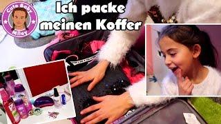 MILEY PACKT KOFFER | was packt eine 7 Jährige in ihren Urlaubskoffer | CuteBabyMiley