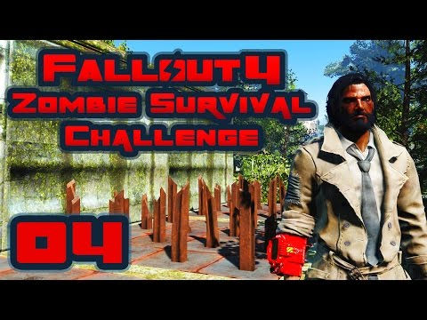 Let's Play Fallout 4: Zombie Survival Challenge - Part 4 - My Kingdom For Some Lead