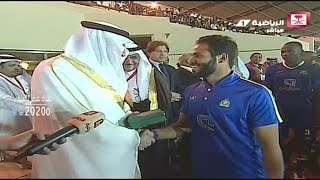لقطة صعود النصر للمنصة | بطوله تبوك الدوليه