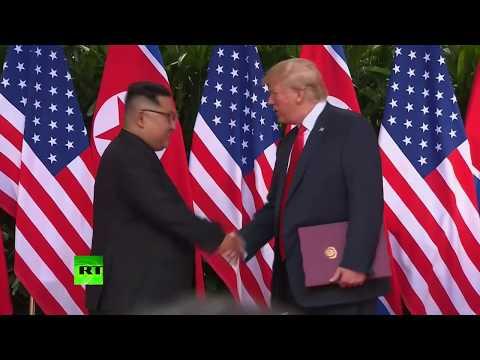 «Лучше, чем можно было ожидать»: Дональд Трамп и Ким Чен Ын провели историческую встречу в Сингапуре
