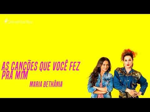 As Canções Que Você Fez Pra Mim - Maria Bethânia  Verão 90 TEMA DE HERCULANO E JANAÍNA
