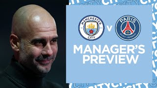 PEP AND STONES PRESS CONFERENCE | MAN CITY v PSG