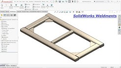 Solidworks Weldments exercise