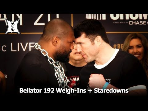 Bellator 192: Rampage vs Sonnen / Lima vs MacDonald Ceremonial Weigh-Ins + Face Offs (FULL)