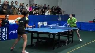 Valentina Sabitova - Li Qianhbing ETTU CUP 2014/2015 (WOMEN)
