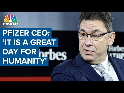 Pfizer CEO on Covid-19 vaccine efficacy: 'It is a great day for humanity'