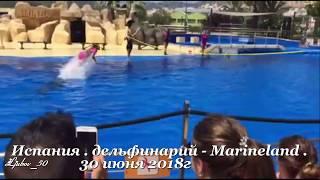 Супер шоу с дельфинами. Испания,дельфинарий - Marineland 30 июня 2018г