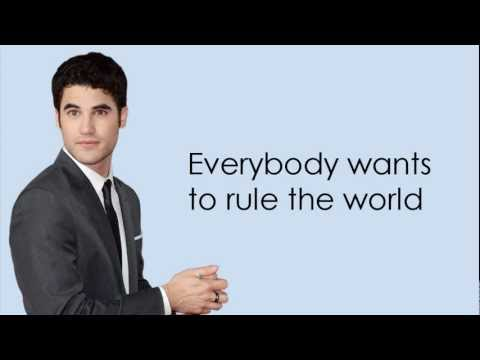 Glee - Everybody Wants To Rule The World (Lyrics)