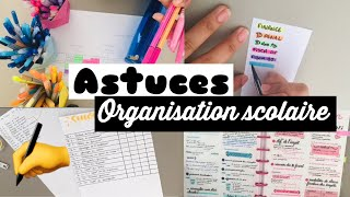 |BACK TO SCHOOL| Organisation scolaire