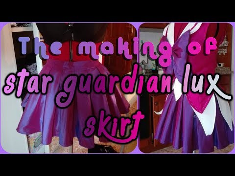 Star Guardian Lux - making a circle pleated skirt - SUB ITA/ENG