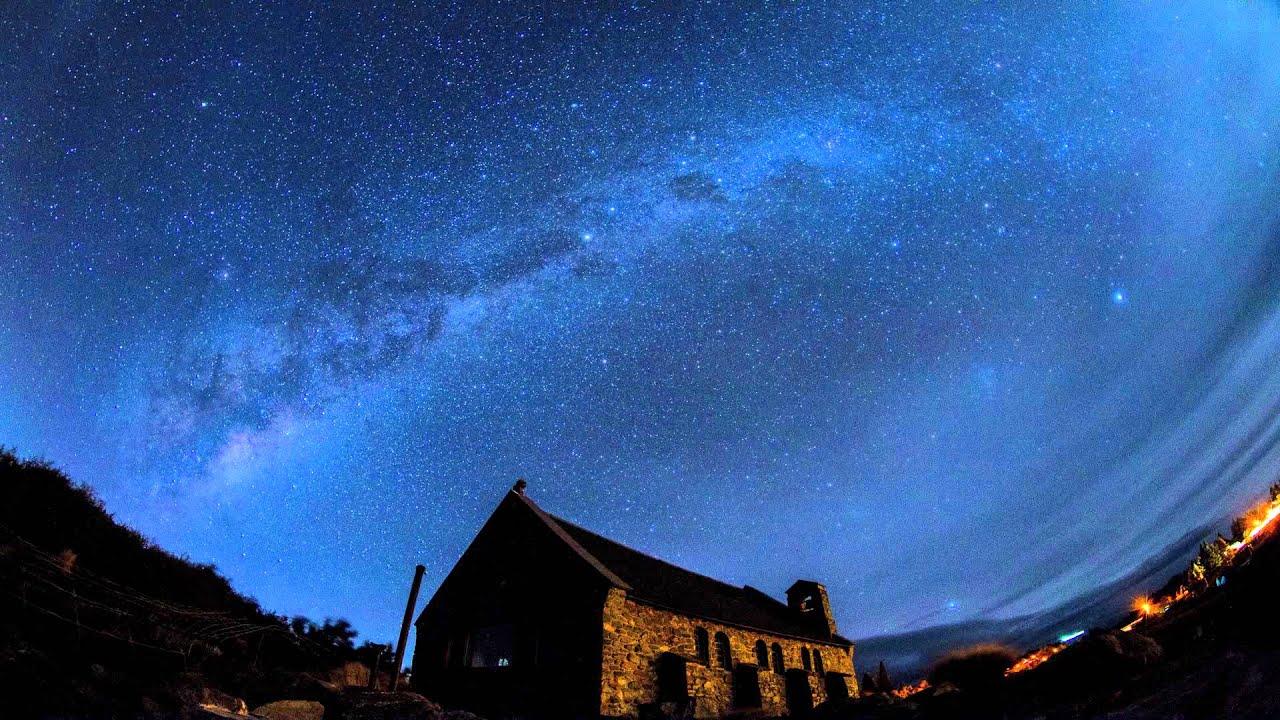 Penembakan New Zealand Hd: New Zealand Lake Tekapo Milky Way