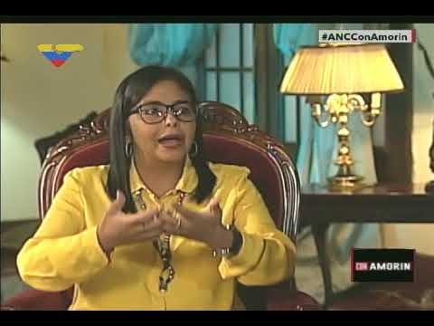 """Delcy Rodríguez en programa """"Con Amorín"""", 29 octubre de 2017"""