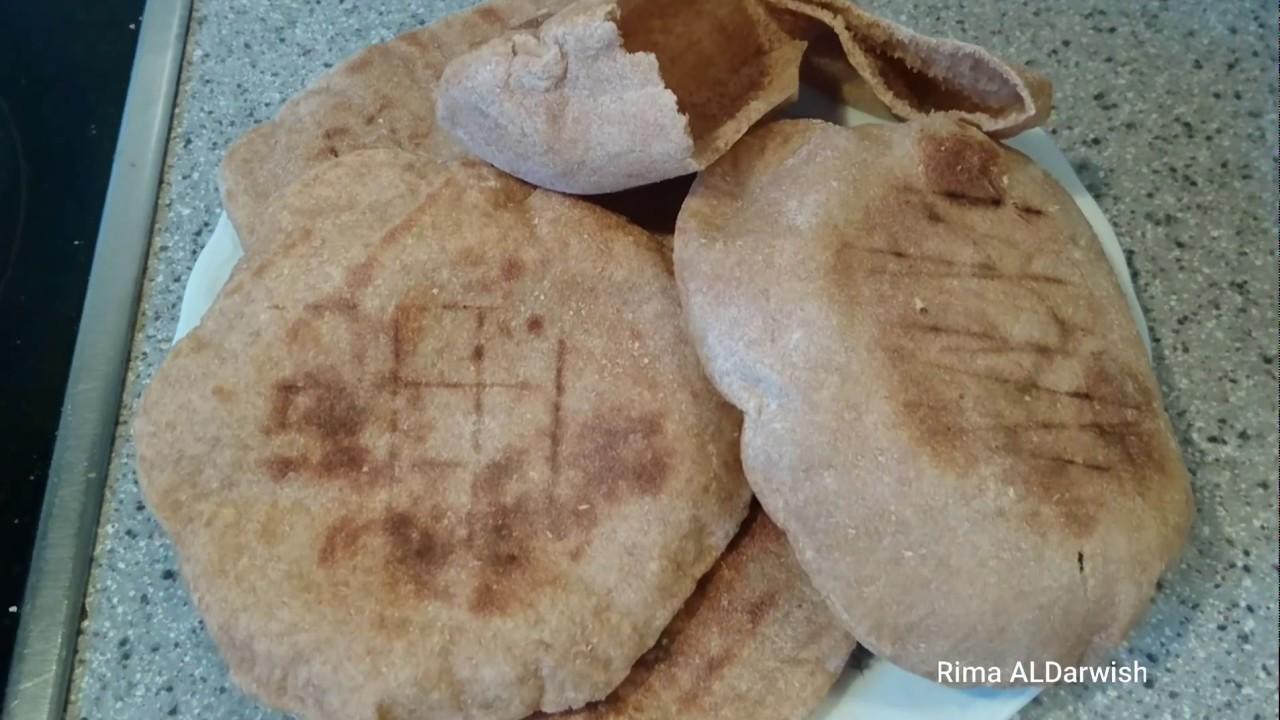 طريقة عمل الخبز الاسمر الصحي خبز النخالة Youtube