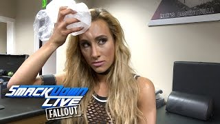 Carmella comes out of Nikki Bellas attack ice cold SmackDown LIVE Fallout Nov  29 2016