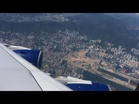 [A380 GO AROUND at HKG!!] British Airways Airbus A380 landing at Hong Kong