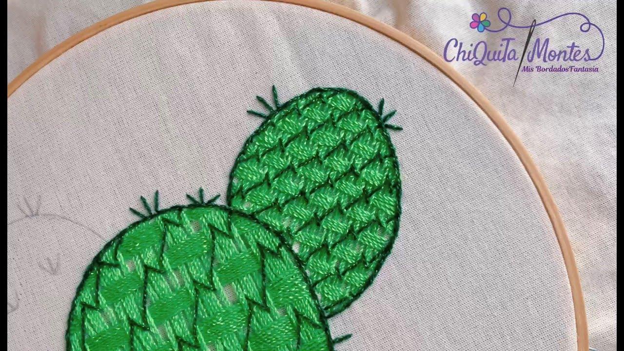 Bordado Fantasía Nopal 5 / Hand Embroidery Prickly Pear with Fantasy Stitch