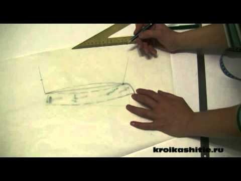 Построение выкройки воротника на стойке 2