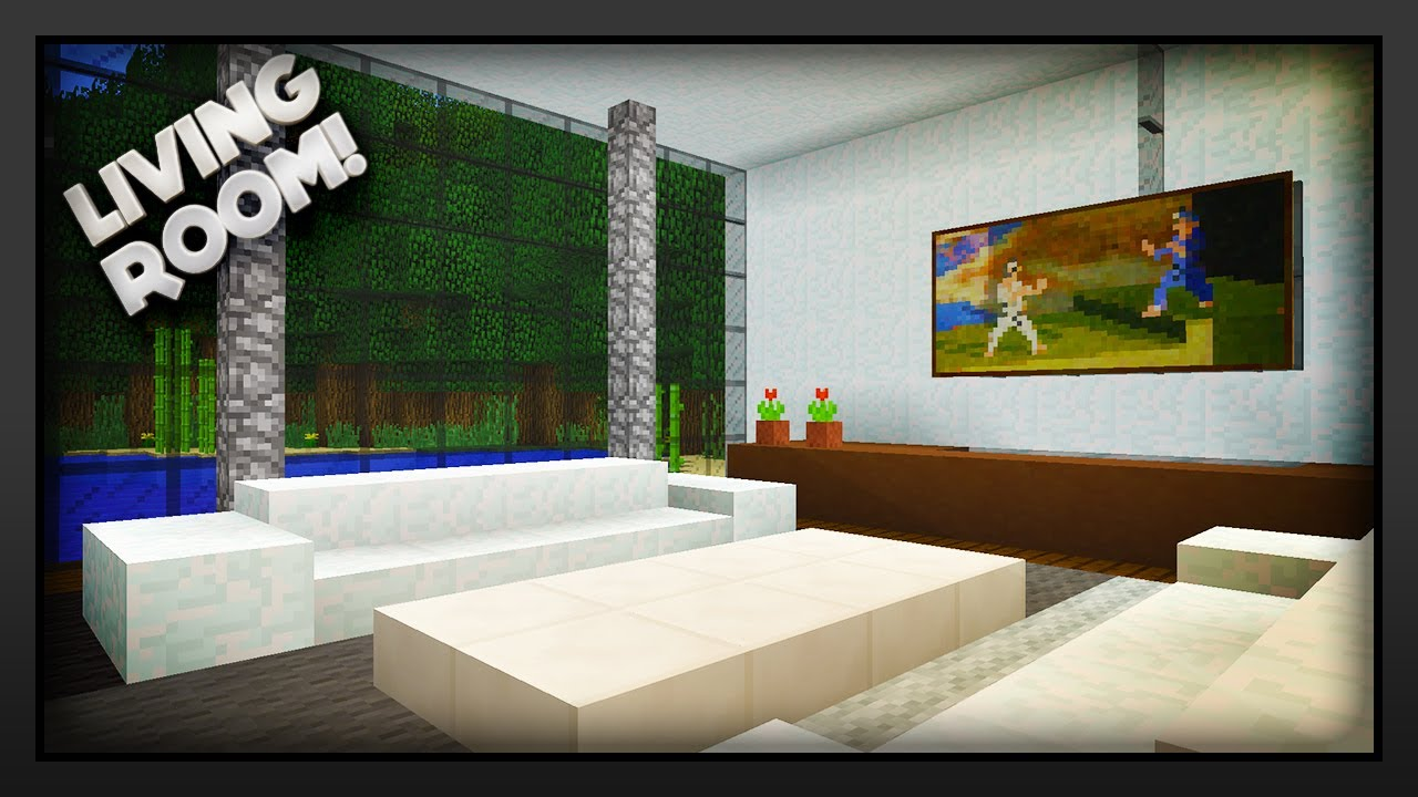 Living Room Minecraft minecraft - how to make a living room - youtube