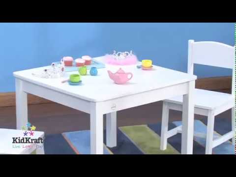KidKraft Aspen Table and 2 Chairs in White for Kids 21201 - purchase ...