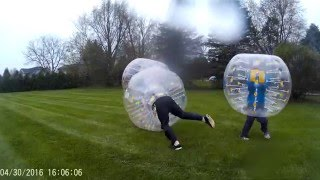 Bubble Soccer Diaper Party 1 - Warm Ups