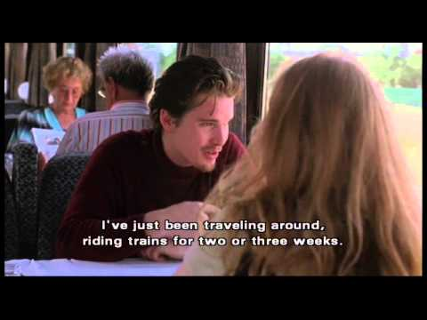 "Before Sunrise (clip2) -""So I'm the crude, dumb, vulgar American..."""