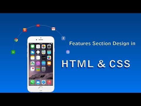 How To Create Website Features Section Using HTML And CSS | HTML Website Tutorial