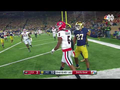 Notre Dame Football vs. UGA Highlights