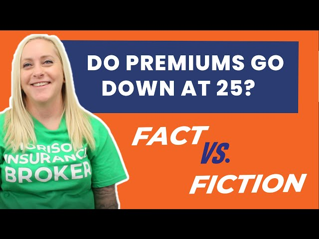 Fact or Fiction - Insurance Premiums Go Down At Age 25