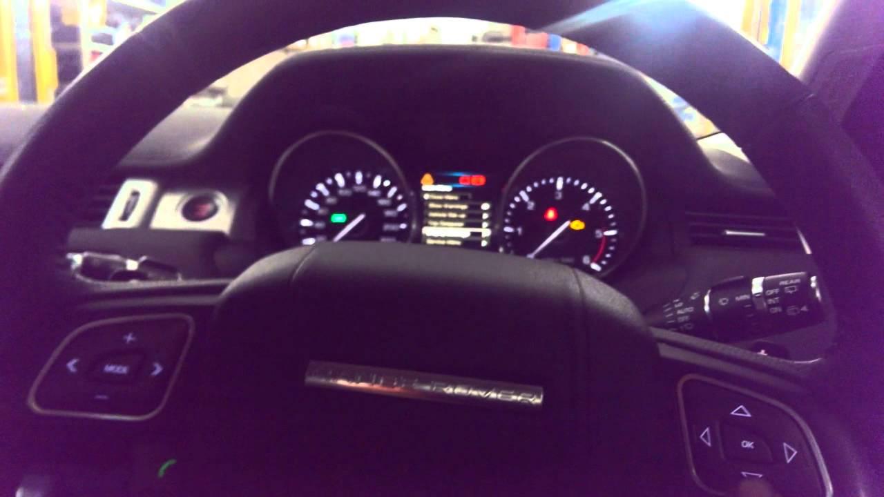 Range Rover Evoke Service Reset Youtube